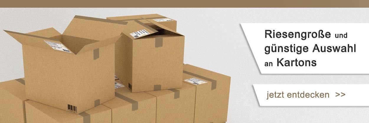 Riesengroße Auswahl an Kartons