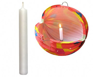 Kerzen für Lampions und Laternen 100 mm lang, weiß, ...