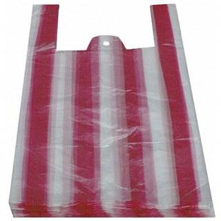 Hemdchentragetaschen HDPE gestreift 300+160x520mm, 100 Stk.