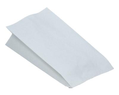 Papierbeutel fettdicht weiß ohne Druck, 13+8 x 28 cm, 100 Stk.