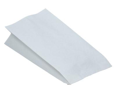 Papierbeutel fettdicht weiß ohne Druck, 15+8 x 30 cm, 100 Stk.