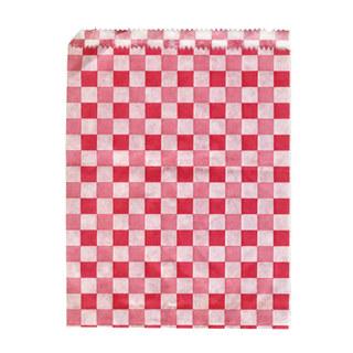 5 Stk. Papierbeutel KARO 14 x 19 cm, 500 Stk.