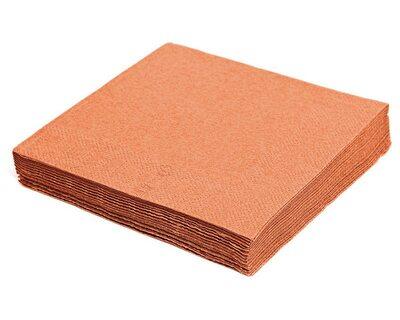 Servietten 40 x 40cm 1/4 -Falz, 3-lagig apricot, 250 Stk.