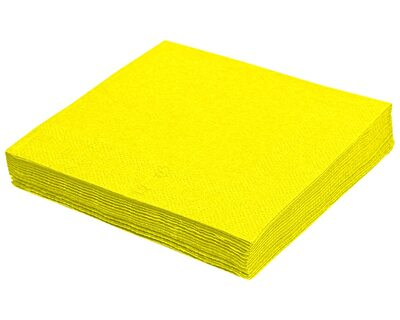Servietten 40 x 40cm 1/4 -Falz, 3-lagig gelb, 250 Stk.