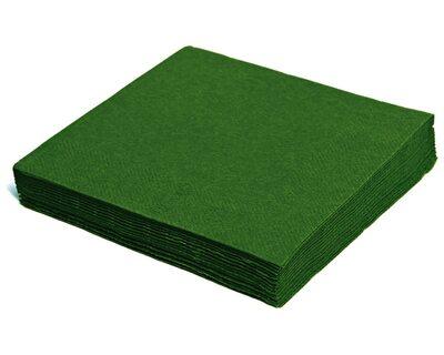 Servietten 40 x 40cm 1/4 -Falz, 3-lagig dunkelgrün, 250 Stk.