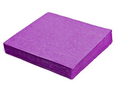 Servietten 40 x 40cm 1/4 -Falz, 3-lagig violett, 250 Stk.