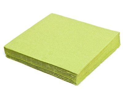 Servietten 40 x 40cm 1/4 -Falz, 3-lagig gelbgrün, 250 Stk.