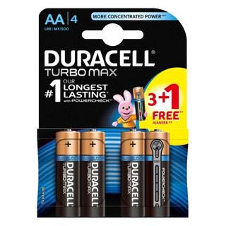 Duracell Turbo Max Alkaline Batterien LR6/AA Mignon | 1,5 Volt Spannung, 4 Stk.