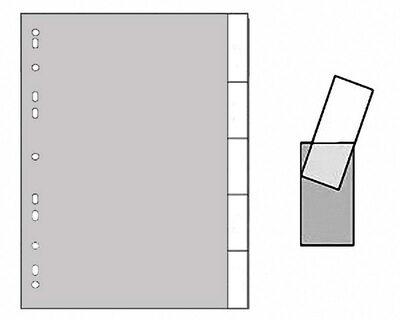 Ordnerregister A4 Blanko, 5 Registerblätter zum Selbstbeschriften, grau, 5tlg.