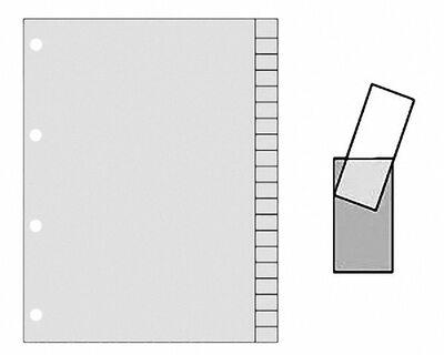 Ordnerregister A4 Blanko, 20 Registerblätter zum Selbstbeschriften, grau, 20tlg.