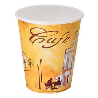 Kaffeebecher CofeToGo Becher CAFE DE PARIS, Pappe beschichtet,  200 ml, 50 Stk.