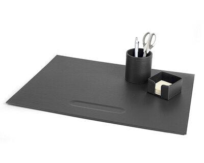PAVO Premium Büroset Schreibtischset schwarz Kunstleder, 70x45cm, 3-teilig