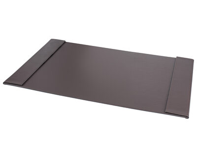 PAVO edle Schreibtischunterlage 70x45cm Seitenränder klappbar Kunstleder braun