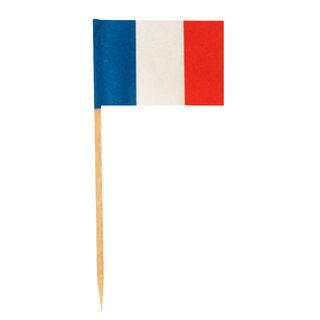 Flaggenpicker Deko-Picker Land Frankreich, 500 Stk.