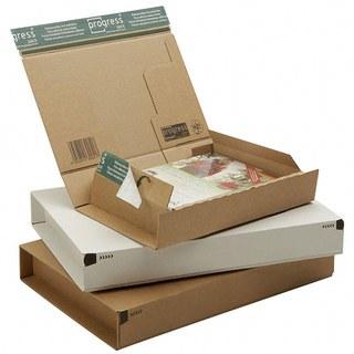 Post-Versandkarton PACKBOX-XS SK-Verschluß, Aufreißfaden 215x155x43mm weiß, A5+