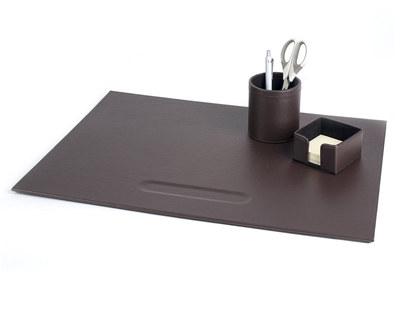 PAVO Premium Büroset Schreibtischset braun Kunstleder 70x45cm, 3-teilig
