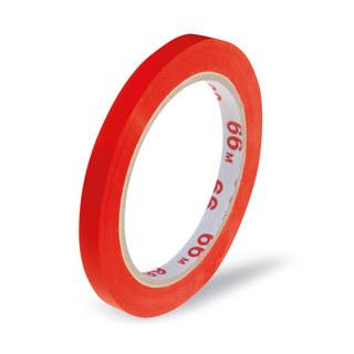 Klebeband Markierungsband Beutelverschluß PVC, 66m x 9mm, rot