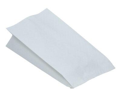3 Stk. Papierbeutel fettdicht weiß ohne Druck, 10,5+5,5 x 24 cm, 100 Stk.