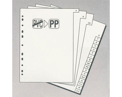 Ordnerregister A4, A-Z, 20tlg., grau, 3 Packungen