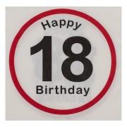 Motivservietten 3-lagig, 33 x 33 cm, 18 - Happy Birthday, 20 Stk.