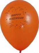 Luftballons Happy Birthday Ø 250 mm, Größe M,  10 Stk.