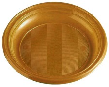 Teller Partyteller gold aus PS, rund Ø 22 cm, 10 Stk.