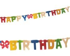 Girlande Geburtstag HAPPY BIRTHDAY bunt 1,5 m x 11 cm