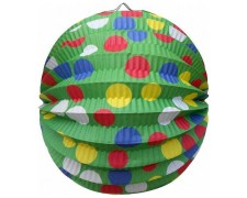 Lampion rund PARTY grün Ø 24 cm