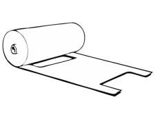 Knotenbeutel 5 kg HDPE transparent, 447 x 217 mm, gerollt, 200 Stk.