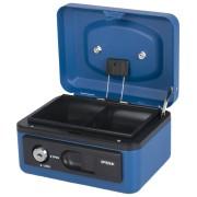 Deluxe Geldkassette mit praktischer Öffnungsfunktion 150mm, blau