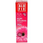 ALUFIX Duft Müllsäcke mit Zugband  70 L, 64x71cm feiner Blütenzauber, 8 Stk.