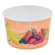 Eisbecher, Pappe rund 340 ml Ø 101mm, Höhe 63mm, Fruchtreigen,  50 Stk.