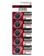 Maxell Lithium Knopfzelle Rundzelle CR2025 | 3  Volt für Taschenrechner, 5 Stk.