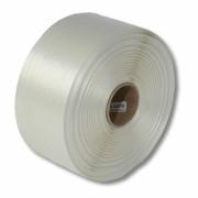 Textil-Umreifungsband, weiss, Polyester,  19 mm Breite, 500 meter auf Rolle