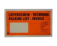 Dokumententaschen *Lieferschein/Rechnung* DIN Lang 235x130mm orange, 1000 Stk.