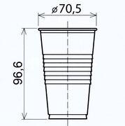 Trinkbecher weiß 200 ml aus PP, Ø 70 mm,  25 Stk.