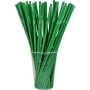 BIO Flexhalme Trinkhalme aus PLA, flexibel, dunkelgrün, Ø5mm, 24cm, 500 Stk.