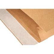 Musterfaltenbeutel mit SK-Klappe aus Kraftpapier 120 g/m² 250x50x353 + 50 mm