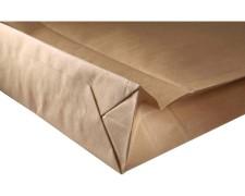 Musterfaltenbeutel mit SK-Klappe aus Kraftpapier 120 g/m² 190x50x300 + 50 mm