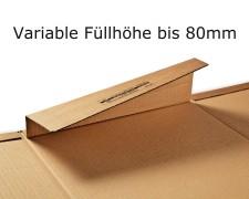 Ordnerverpackung CP050.01 320 x 290 x 35-80mm, braun