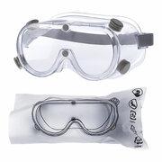 Schutzbrille geschlossen mit PVC Band, Polycarbonat-Linsen und Anti-Beschlag