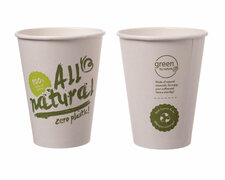 BIO Kaffeebecher Coffee to go ALL NATURAL - Zero Plastic 300ml Ø90mm,  50Stk.