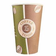 Kaffeebecher Premium, Coffee to go, Pappe beschichtet, 16oz., 400 ml, 50 Stk.