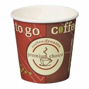 Kaffeebecher Coffee ToGo COFFEE DREAMS Pappe beschichtet  4oz. 100 ml  50 Stk.