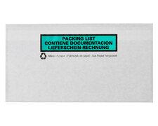 Dokumententaschen DIN Lang transparent aus Papier Lieferschein Rechnung  250Stk.