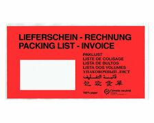 Dokumententaschen DIN Lang rot mit Fenster aus Papier,  250 Stk.