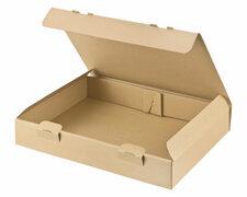 Maxibriefkarton und Warensendung Versandkarton, 305x220x46mm für Din A4, braun
