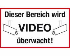 Hinweisschild - Dieser Bereich wird videoüberwacht - mit Kamera-Symbol