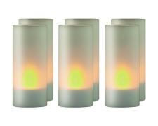 LED-Teelicht-Set Kerzenlicht stimmungsvoll  Ø43 x 100mm inkl. Ladestation 6 Stk