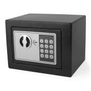 Tresor Schwarz 23x17x17cm mit elektronischem  Zahlenschloß für Tisch/Wandmontage